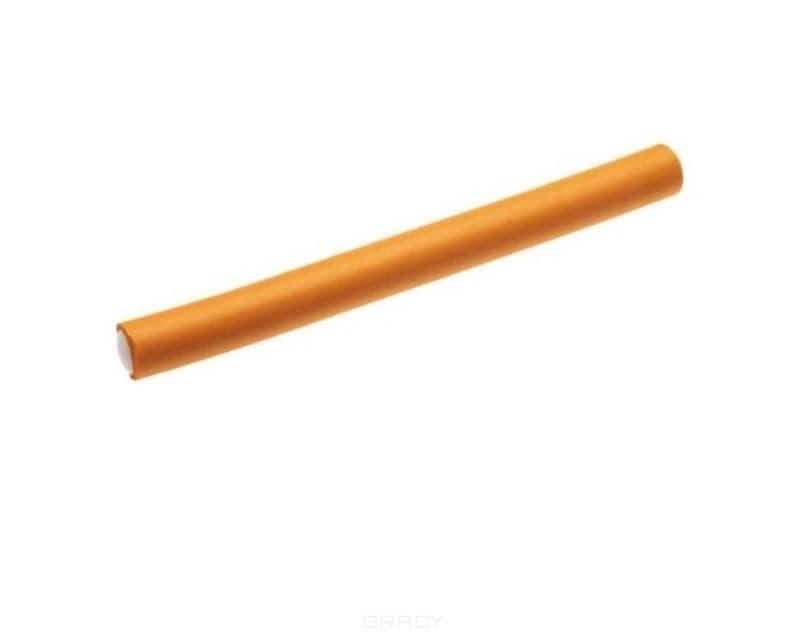 OLLIN Professional Бигуди-бумеранги оранжевые 17 мм, длина 22 см, 12шт./уп ollin professional зажимы бабочка 12 шт 2 вида зажимы бабочка 12 шт 2 вида 12 шт 55 мм