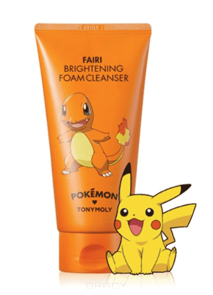 Tony Moly Пенка для умывания осветляющая Brightening Foam Cleanser (Pokemon Edition) #Fairi пенка tony moly clean dew acerola foam cleanser объем 180 мл