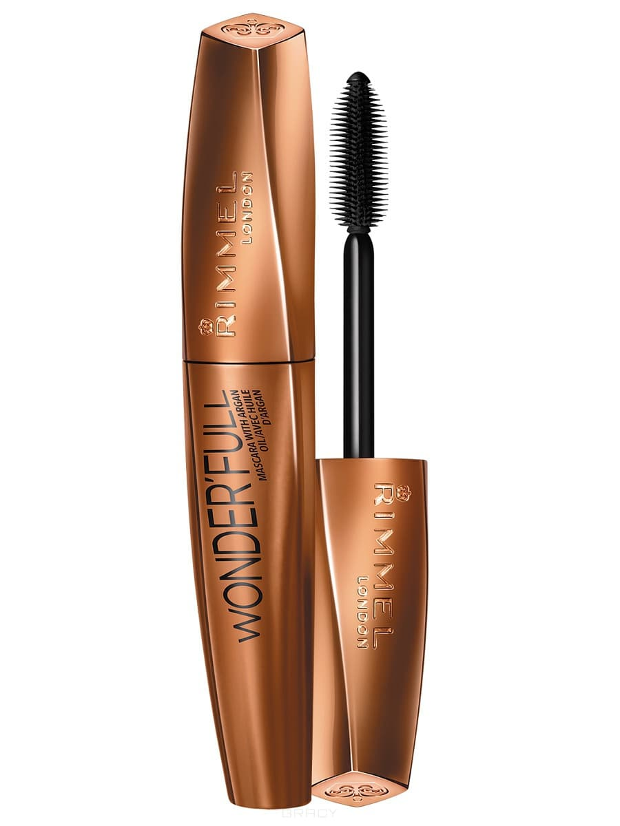 Rimmel Тушь для ресниц Rimmel Wonder`full Mascara With Argan Oil тон 001, 11 мл тушь для ресниц rimmel extra super lash curved brush 101