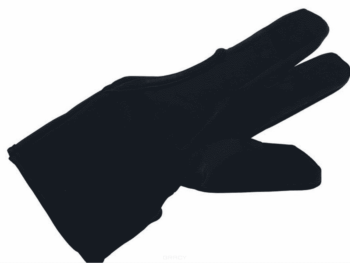 Dewal Перчатка для защиты пальцев рук, при работе с горячими парикмахерскими инструментами. разделители для пальцев dewal синие розовые 8 шт упак