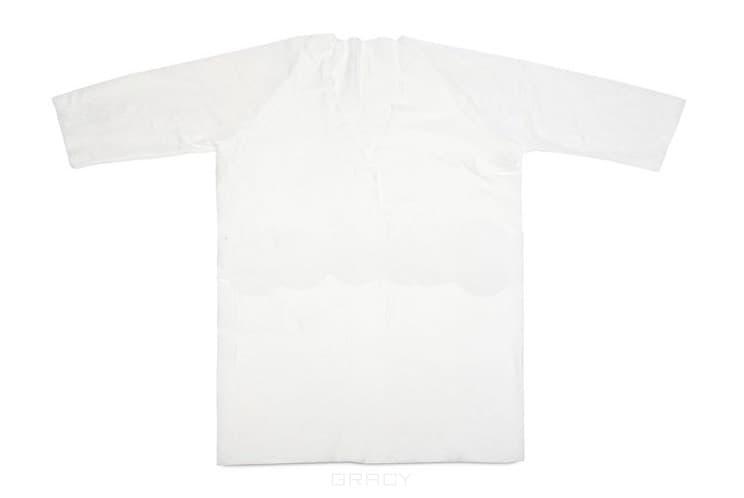 Igrobeauty Халат-кимоно белый, спанлейс, 60г/м2, 10 шт