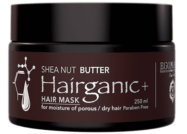 Купить Egomania - Маска с маслом Ши для увлажнения пористых, сухих волос HAIRGANIC+ SHEA NUT BUTTER MASK, 250 мл