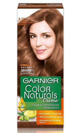 Garnier, Краска для волос Color Naturals (30 оттенков), 110 мл 6.23 Перламутровый миндаль