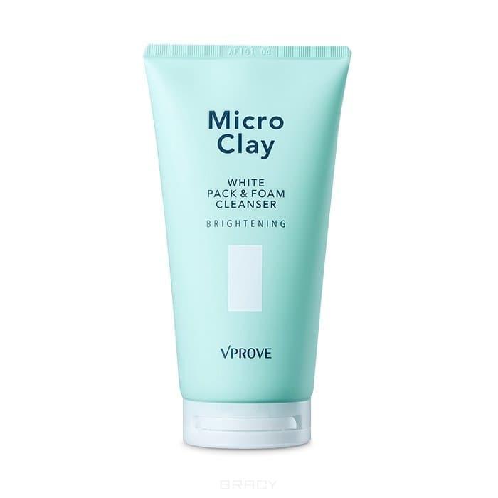 "Vprove - Маска-пенка ""Микро Клэй"" с каолином, осветляющая Micro Clay White Pack & Foam Cleanser Brightening, 150 мл"