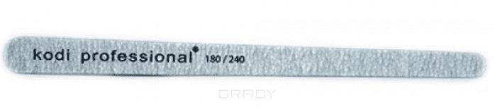 Kodi Пилка для натуральных ногтей 180/240 zinger пилка полуовал черная 100 180