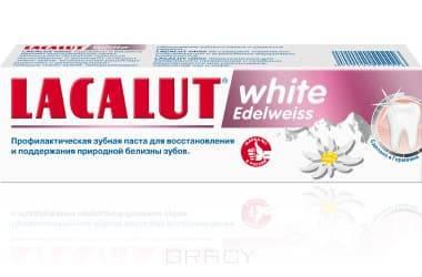 Lacalut Зубная паста Уайт Эдельвейс white Edelweiss, 75 мл, Зубная паста Уайт Эдельвейс white Edelweiss, 75 мл, 75 мл паста зуб lacalut хербал 75мл гель
