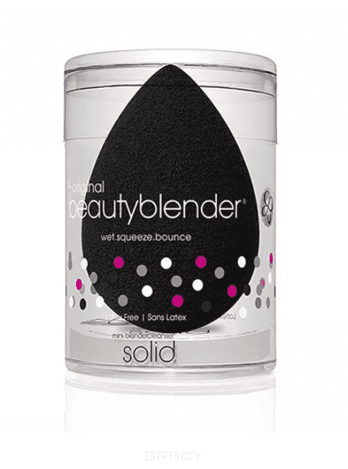 BeautyBlender Набор косметический Beautyblender Pro + Blendercleanser Solid Mini черный спонж + мини-мыло beautyblender набор косметический pro on the go