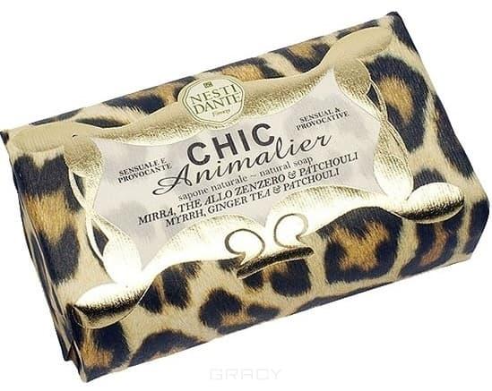 Nesti Dante Мыло Chic Animalier Бронзовый леопард, 250 гр., Мыло Chic Animalier Бронзовый леопард, 250 гр., 250 гр.