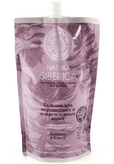 Natura Siberica Бальзам для окрашенных и поврежденных волос Защита и блеск Дой-Пак, 500 мл