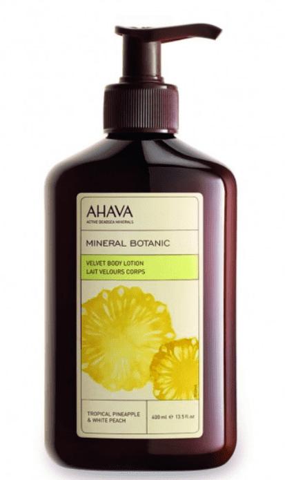 Ahava Бархатистый крем для телатропический ананас и белый персик Mineral Botanic, 400 мл крем для тела 400 мл ahava крем для тела 400 мл
