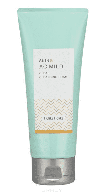 Holika Holika Пенка для лица Очищающая Skin and AC Mild Clear Cleansing Foam, 150 мл бальзам для очищения кожи лица holika holika pig nose clear black head deep cleansing oil balm