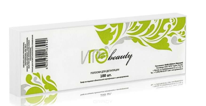 Igrobeauty, Бумага в полосках для депиляции Ahlstrom, 7,5х23 см (2 цвета), 100 шт./уп. Белая