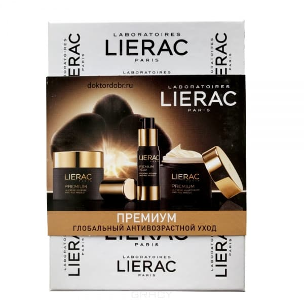 Lierac, Набор Premium (Крем для контура глаз 3 мл + Крем Оригинальный 15 мл + Крем Бархатистый 15 мл)