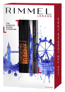 Rimmel Набор Scandal Re-loaded Ex Prof Eyebrow карандаш для бровей lumene nordic chic extreme precision eyebrow pencil 4 цвет 4 коричневый variant hex name 271c1a