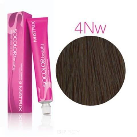 Matrix, Крем-краска для волос SoColor.Beauty, 90 мл (117 оттенков) SOCOLOR.beauty 4NW натуральный теплый Шатен