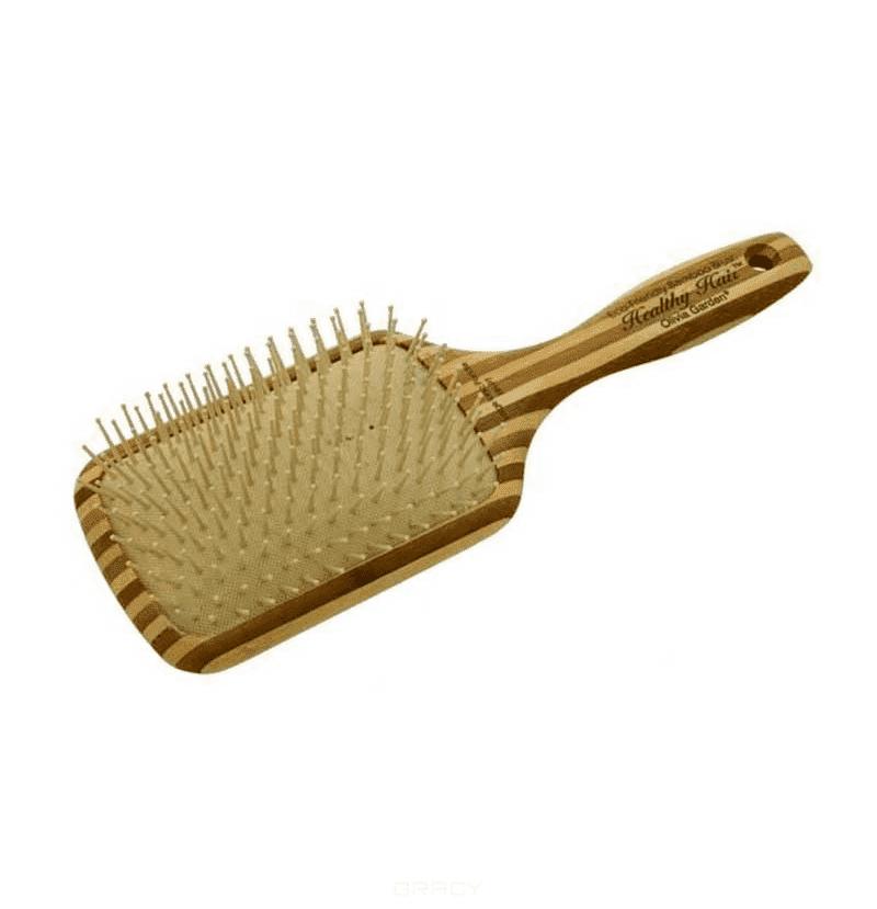 Olivia Garden Щетка массажная ион+бамбук OGBHHP7 щетка olivia garden ogbhhp5 healthy hair ionic vented paddle hh 5 щетка для волос ogbhhp5