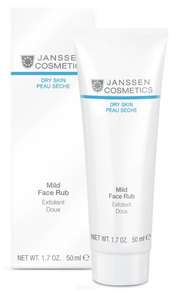 Janssen Мягкий скраб с гранулами жожоба Dry Skin, 50 мл janssen dry skin мягкий скраб для лица с гранулами жожоба mild face rub 50мл 200мл объем 50 мл