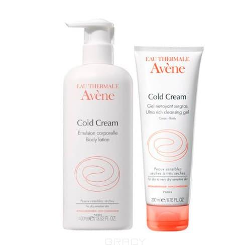 Avene, Набор Колд-крем: Эмульсия для тела + Очищающий сверхпитательный гель Cold Creme, 400 мл + 200 мл (СКИДКА 30% НА ГЕЛЬ)