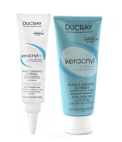 Ducray Программа ухода (Крем PP успокаивающий против дефектов кожи, склонной к появлению Акне + Гель очищающий пенящийся для проблемной кожи) Keracnyl PP, 30 + 40 мл