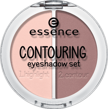 Essence Контурирующая палетка теней для век Contouring Eyeshadow Set 2 в 1, Контурирующая палетка теней для век Contouring Eyeshadow Set 2 в 1, т.02 Брауни для лица essence палетка для скульптурирования shape your face contouring palette 20 цвет 20 ready set pink variant hex name eb7ba6