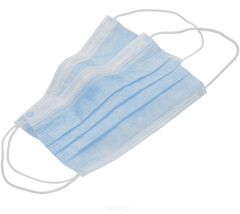 Igrobeauty Медицинские маски 3-х слойные голубые Albens, 50 шт