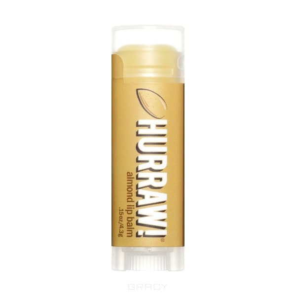 Hurraw Бальзам для губ Миндаль Almond Lip Balm, Бальзам для губ Миндаль Almond Lip Balm, 1 шт бальзам для губ hurraw licorice lip balm
