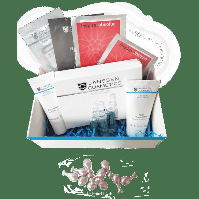 Janssen Набор Сияние и молодость кожи Premium BeautyBox declare восстанавливающий гель для кожи вокруг глаз с массажным эффектом perfect eye fluid 15 мл