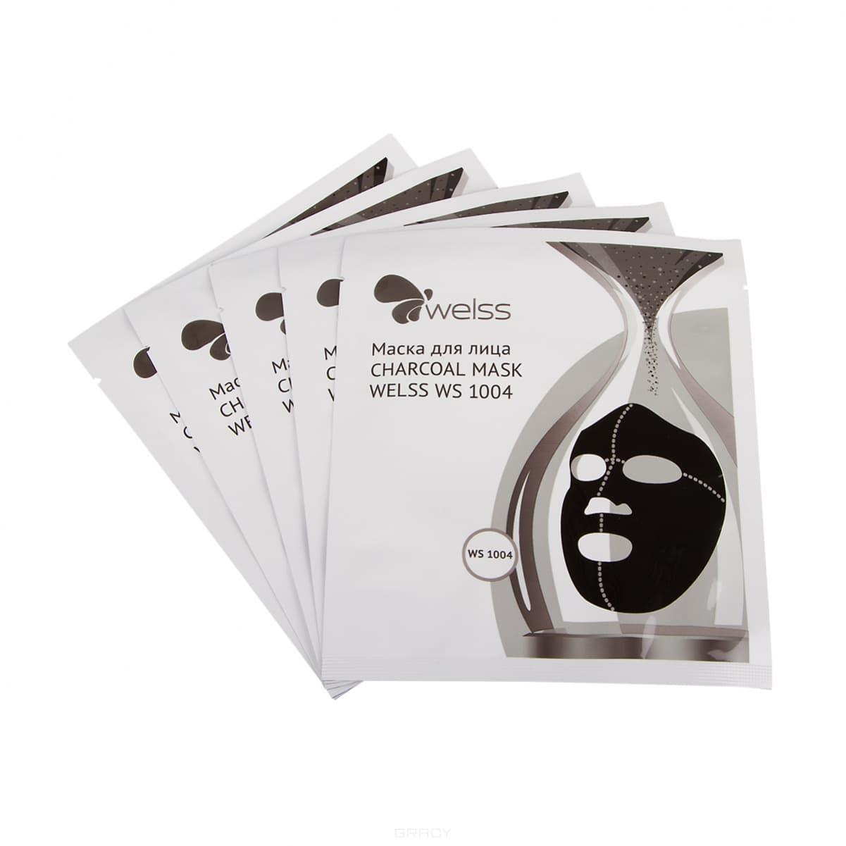 Welss Маска для лица Charcoal Mask, 5 шт/уп welss ws1003 сыворотка для лица секреты улитки 15 мл