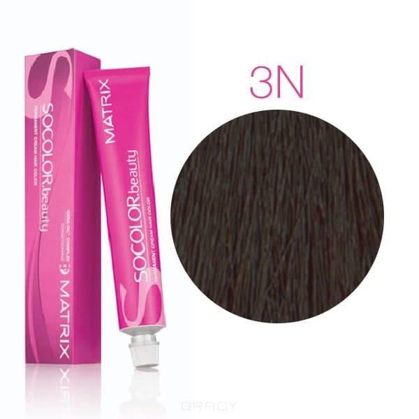 Matrix, Крем-краска для волос SoColor.Beauty, 90 мл (117 оттенков) SOCOLOR.beauty 3N темный шатен