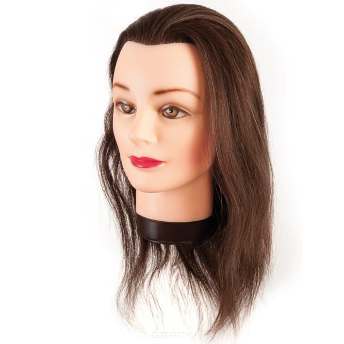 EuroStil Голова учебная шатен 40 см + штатив harizma голова учебная шатен 50 см натуральные синтетика h10823