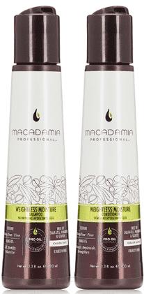 Macadamia Natural Oil Набор для волос Шампунь и кондиционер увлажняющий для тонких волос Weightless Moisture, Набор для волос Шампунь и кондиционер увлажняющий для тонких волос Weightless Moisture, 1/1 л недорого