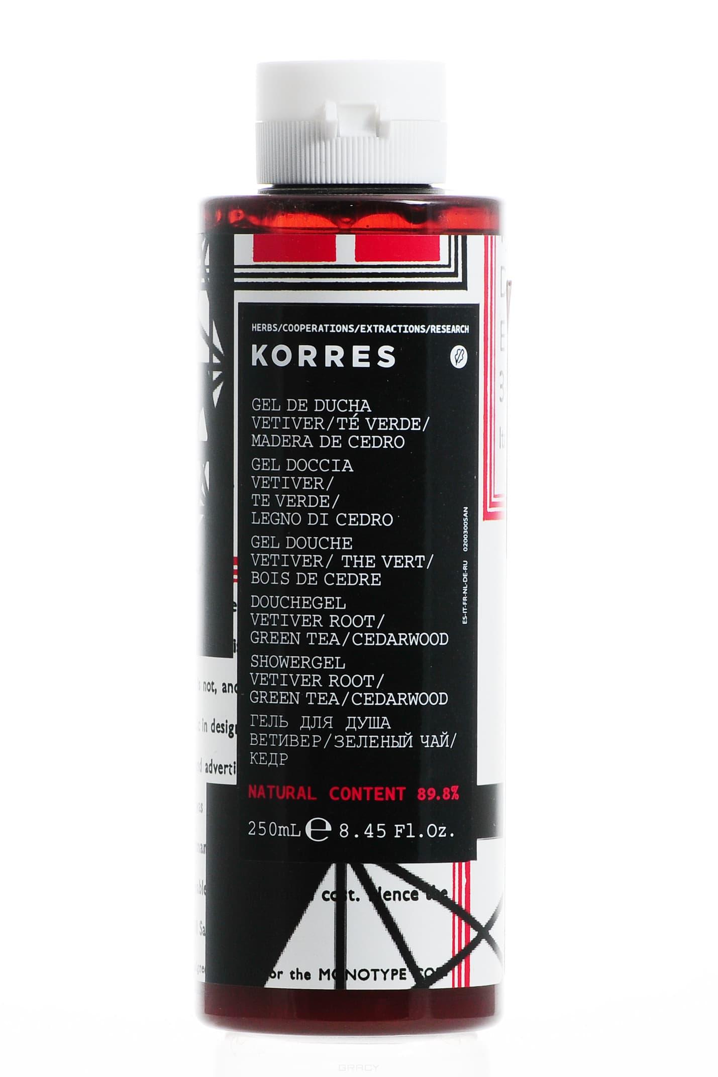 Korres - Гель для душа Корень ветивера, 250 мл