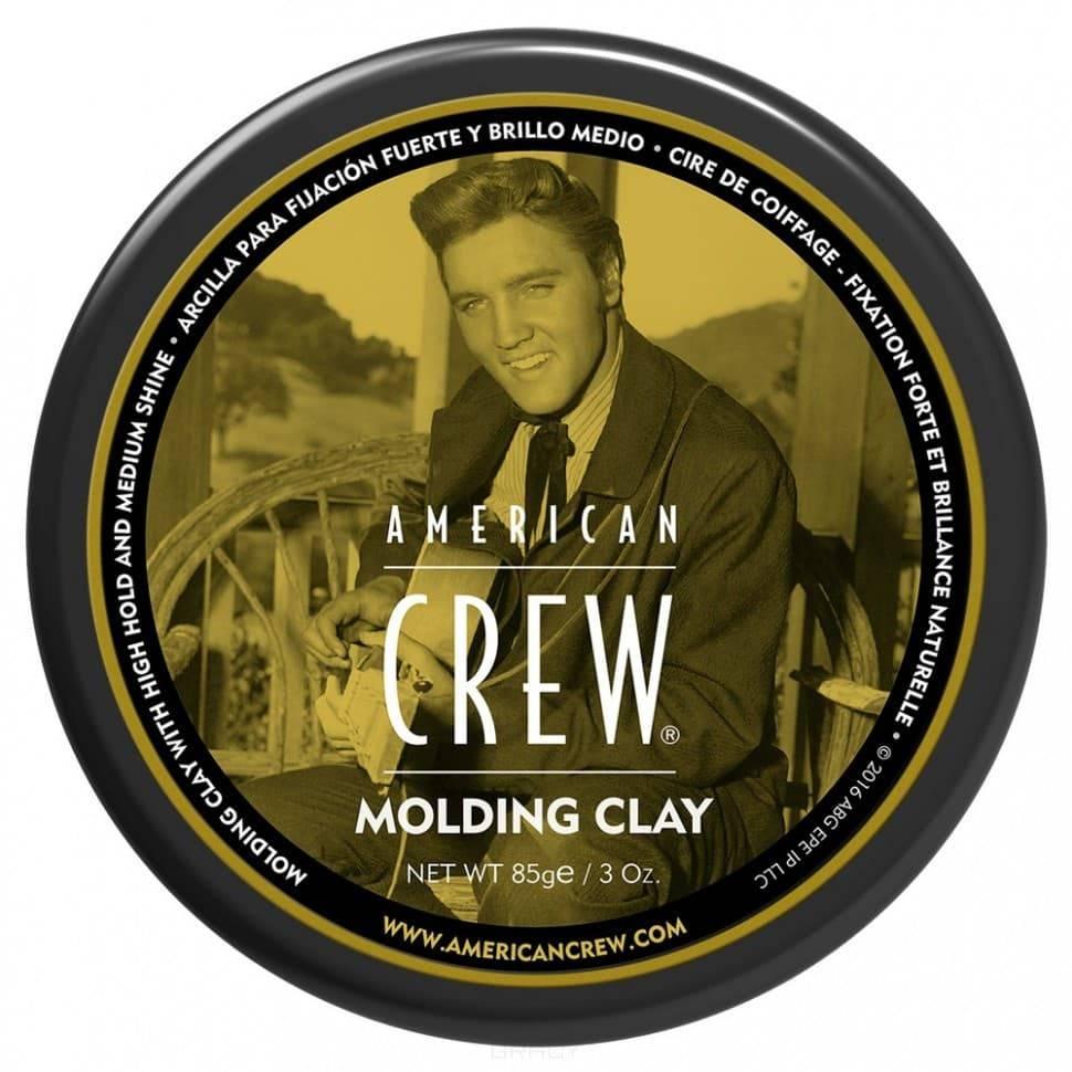 American Crew, Формирующая глина сильной фиксации со средним уровнем блеска для укладки волос King Classic Molding Clay, 85 г