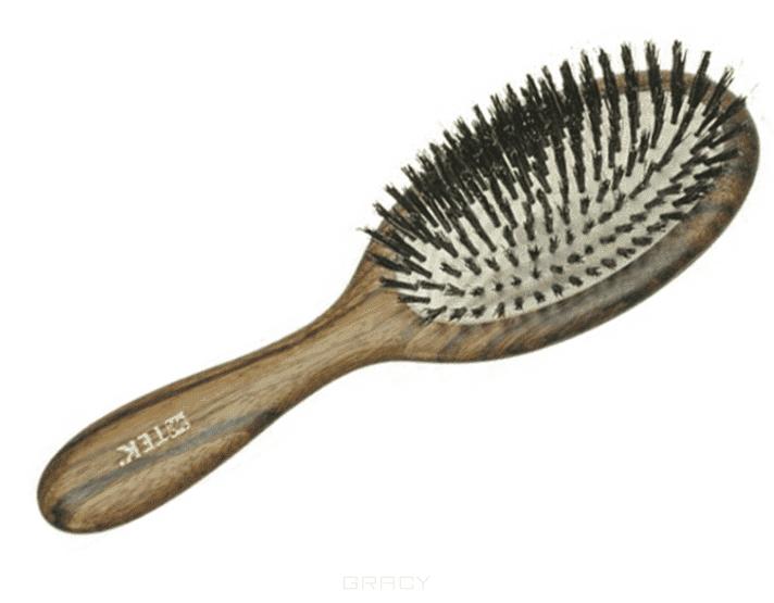 Tek Щетка массажная деревянная овальная натуральная щетина, 507002 sibel щетка classic натуральная щетина 4 ряда