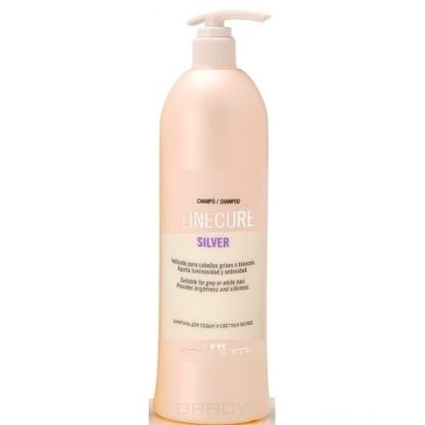 Hipertin, Шампунь для седых и светлых волос Linecure Silver Shampoo, 1000 мл