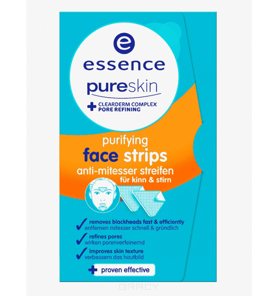 Essence Патчи для носа PureSkin Purifying Nose Strips, 3 шт