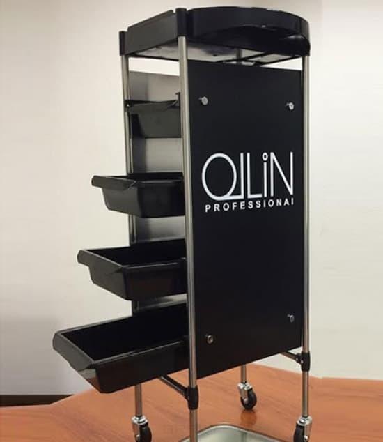 OLLIN Professional Тележка парикмахерская черная mantra 5774