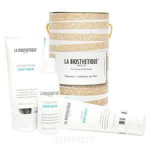 La Biosthetique Набор для сухих волос новогодний Dry Hair Set, 250/200/125 мл la biosthetique lipokerine shampoo b шампунь для сухих волос 250 мл