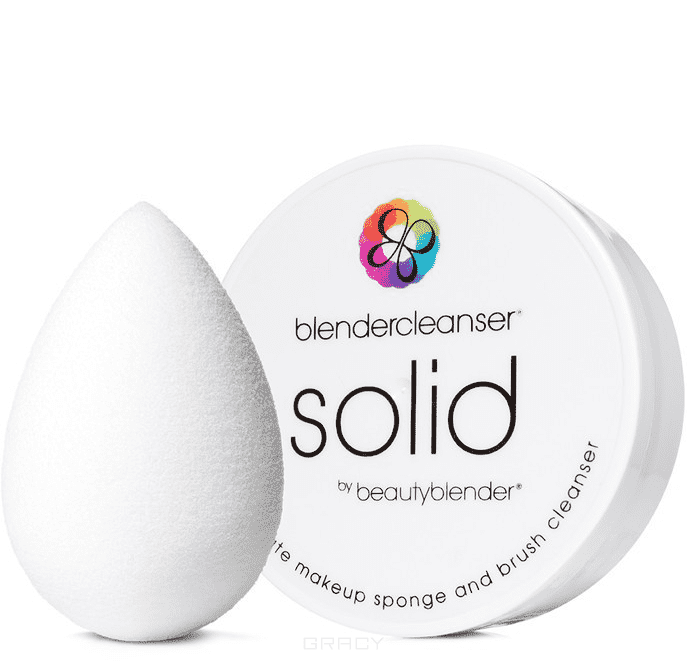 BeautyBlender Набор косметический спонж белый Pure + мыло Blendercleanser Solid, Набор косметический спонж белый Pure + мыло Blendercleanser Solid, 1 набор new original projector color wheel for optoma hd65 hd700x free shipping