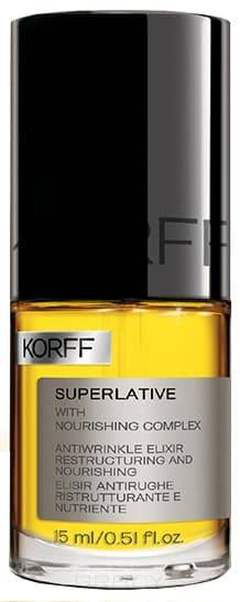 Korff Эликсир против морщин Superlative Antiwrinkle Restructuring Nourishing Elixir, 15 мл korff регенерирующая сыворотка против морщин correctionist antiwrinkle and regenerating serum 30 мл
