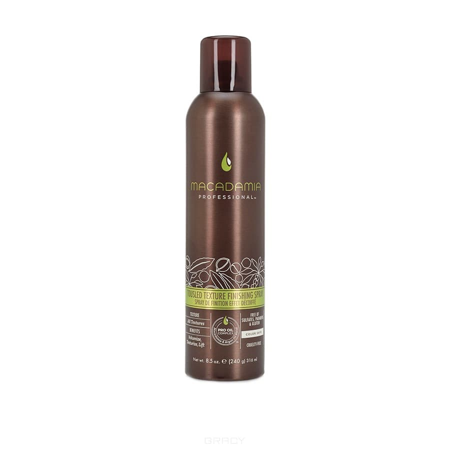 Macadamia Natural Oil Финиш-спрей Небрежная укладка Tousled Texture Finishing Spray, Финиш-спрей Небрежная укладка Tousled Texture Finishing Spray, 57 мл спрей macadamia healing oil spray объем 60 мл