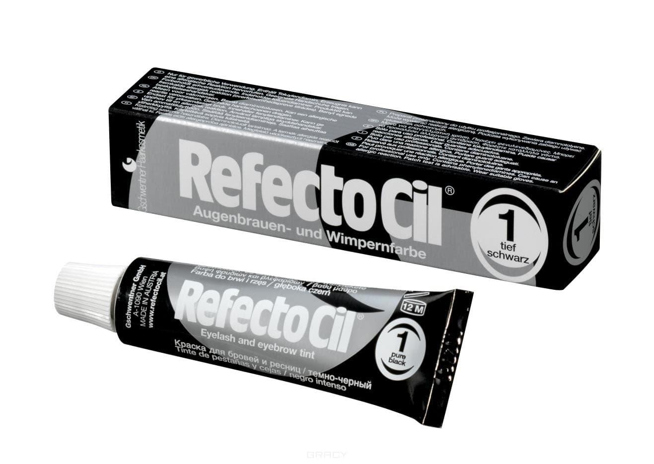 RefectoCil, Краска для бровей и ресниц, 15 мл (10 цветов) №1 Черный