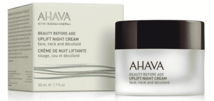 Ahava Ночной крем для подтяжки кожи лица, шеи и зоны декольте Beauty Before Age, 50 мл крем ahava mud крем насыщенный для ног dermud 100 мл