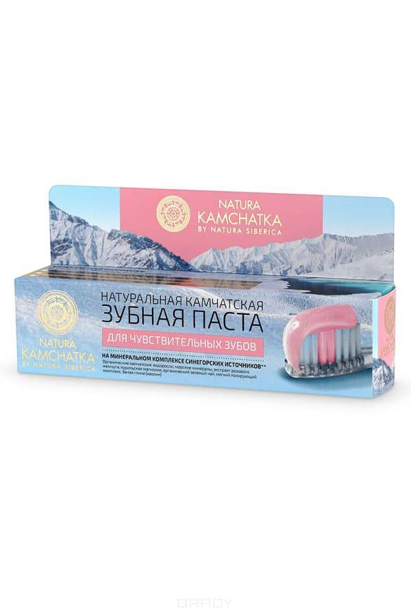 Natura Siberica, Натуральная камчатская зубная паста для чувствительных зубов Kamchatka, 100 мл