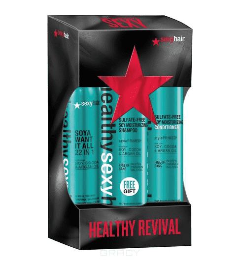 Sexy Hair Набор Максимальное оздоровление, 300/300/150 мл sexy hair шампунь сухой для объема 150 мл