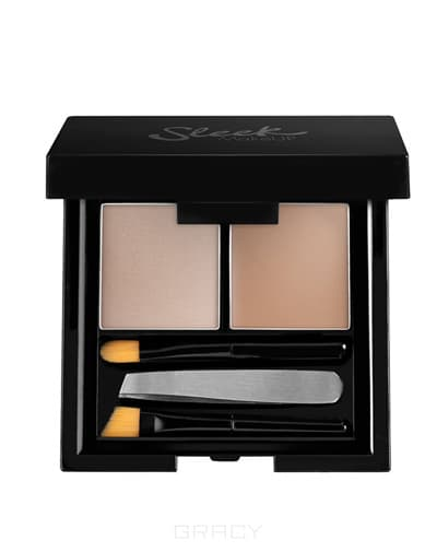 Sleek MakeUp Набор для бровей Brow Kit (4 оттенка), Extra Dark cc крем для лица sleek makeup sleek makeup cc cream
