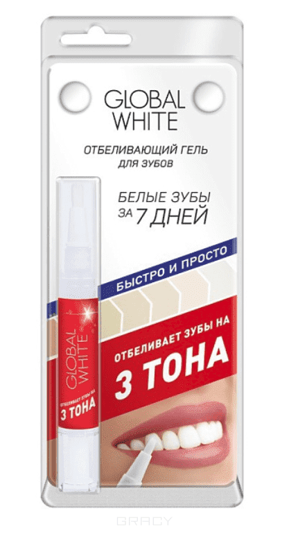 Global White Карандаш отбеливающий Original - Мята (3 тона - в блистере) alessandro отбеливающий лак для ногтей pro white original
