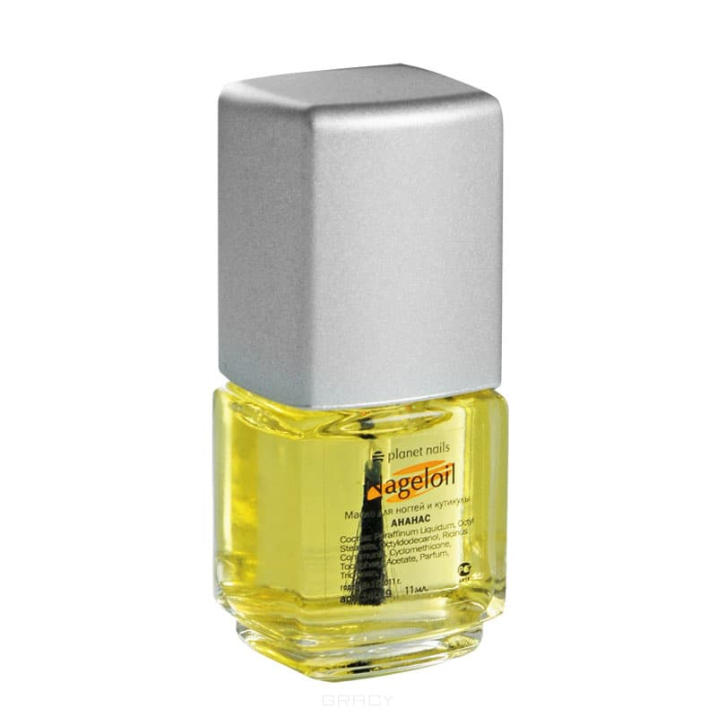 Planet Nails, Масло для ногтей и кутикулы Nageloil ананас, 75 мл