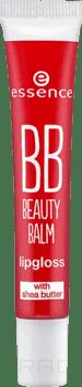 Essence Блеск-бальзам для губ BB Beauty Balm Lipgloss ES57043, Блеск-бальзам для губ BB Beauty Balm Lipgloss ES57043, т.05 Красный бальзам marlies moller specialist bb beauty balm for miracle hair 100 мл