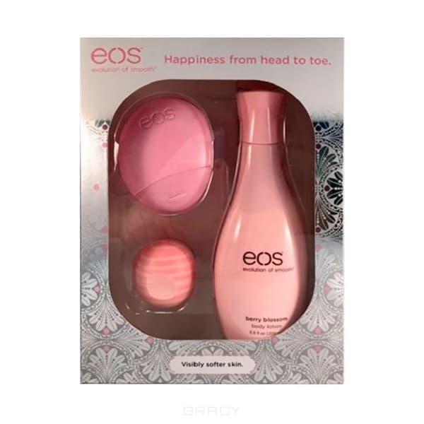 EOS, Набор с бальзамом для губ и лосьонами для рук и тела Розовый